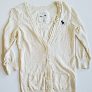 Abercrombie & Fitch Cardigan Lace Sweater